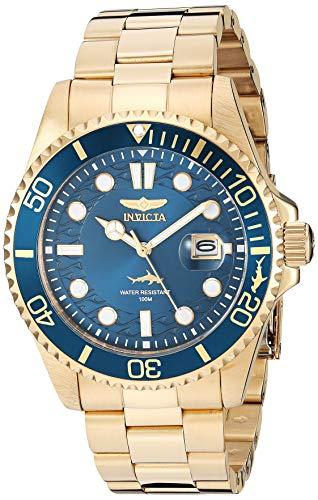 Invicta Men's Pro Diver 43mm Gold Tone Stainless Steel Quartz Watch