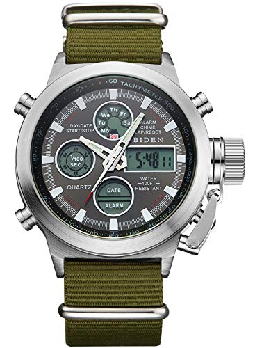 Mens Watches, Sports Military Digital Gents Watch Chronograph