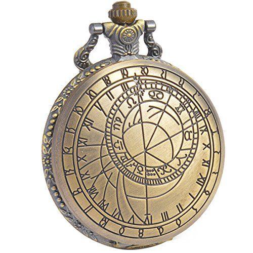 SIBOSUN Doctor Who Pocket Watch Quartz Chain