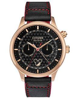 Citizen Men's Disney Stainless Steel Quartz Watch with Leather Strap