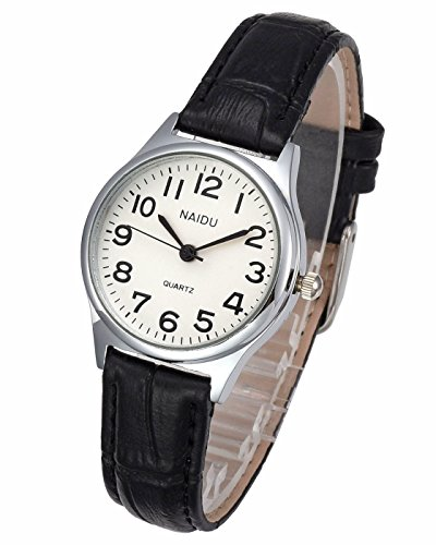 Top Plaza Womens Leather Watch,Fashion Casual Silver Watches