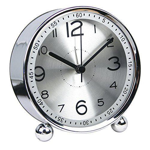 Non-Ticking Silent Metal Small Clock