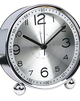 Non-Ticking Silent Metal Small Clock