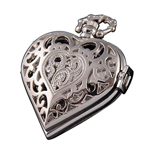 Silver Pocket Watch Heart Harry Potter Locket Style Pendant