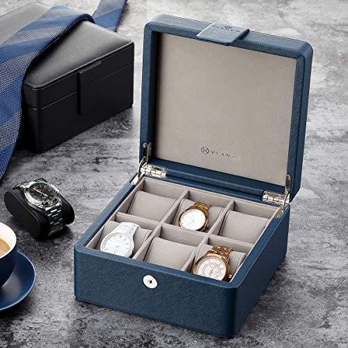 Vlando Wooden Watch Storage Box Organizer