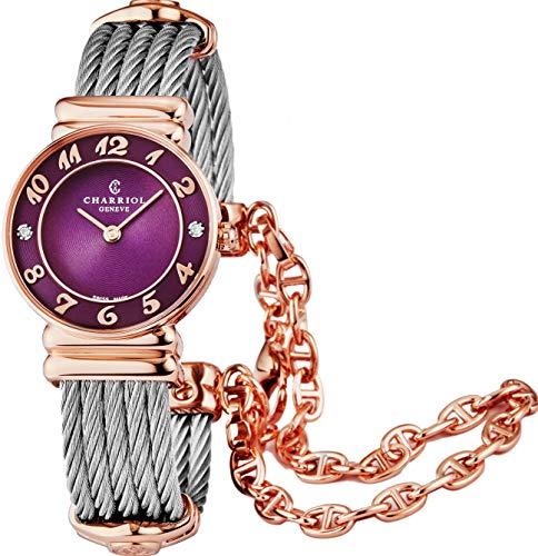 Charriol St Tropez Diamond Quartz Watch Purple