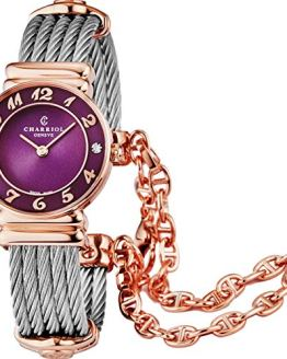 Charriol St Tropez Diamond Quartz Watch Purple