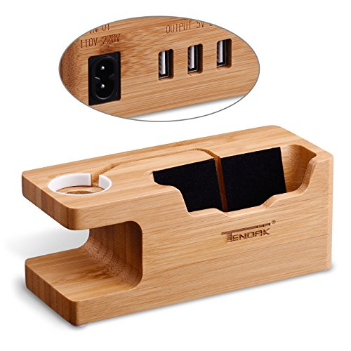 Wood Charging Dock Station for 38mm and 42mm Apple Watch