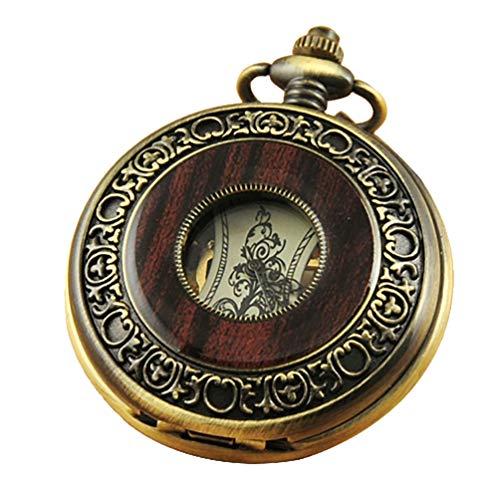 VIGOROSO Men's Hand-Wind Mechanical Pocket Watch