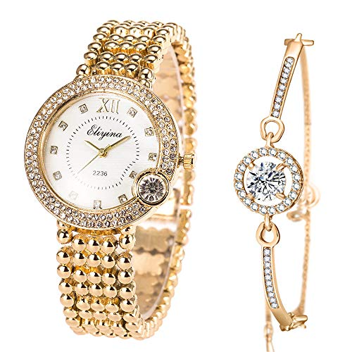 Luxury Ladies Watch Iced Out Watch with Quartz Movement