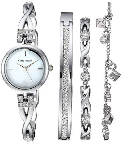 Swarovski Crystal Anne Klein Watch and Bracelet Set