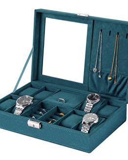 bestwishes Jewelry Box Watch Box Organizer 8-Slot