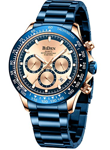 Mens Watches Men Designer Chronograph Waterproof Analogue