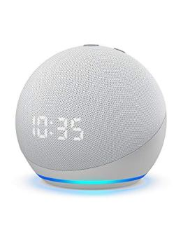 Smart speaker with clock and Alexa All-new Echo Dot