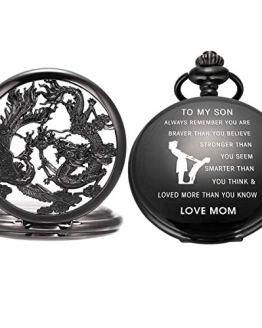 SIBOSUN Pocket Watch Personalized Engraved Mechanical MOM
