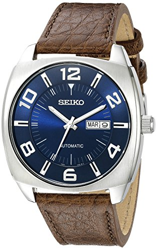 Seiko Automatic Self-Wind Watch with Brown Leather
