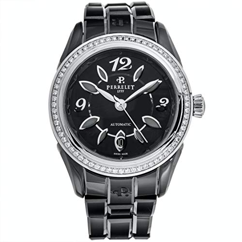 Automatic Black Dial Watch Perrelet Classic Eve