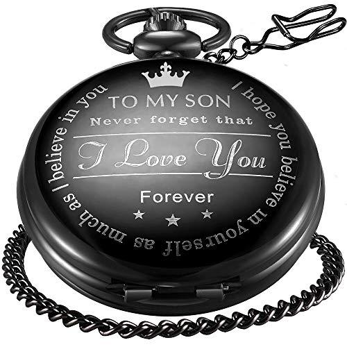 LYMFHCH Black Personalized Pocket Watch Gifts