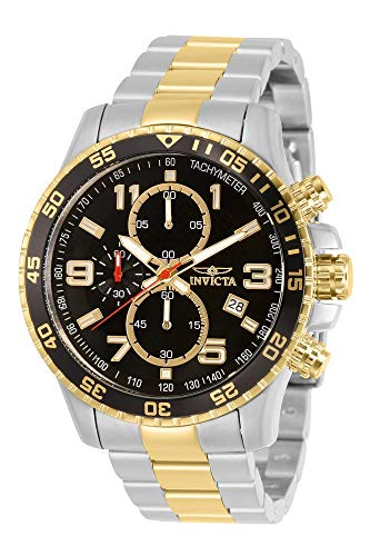 Invicta Men's Specialty 45mm Steel and Gold Quartz Watch