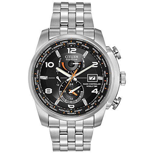Citizen Men's Eco-Drive World Time Atomic Timekeeping Watch