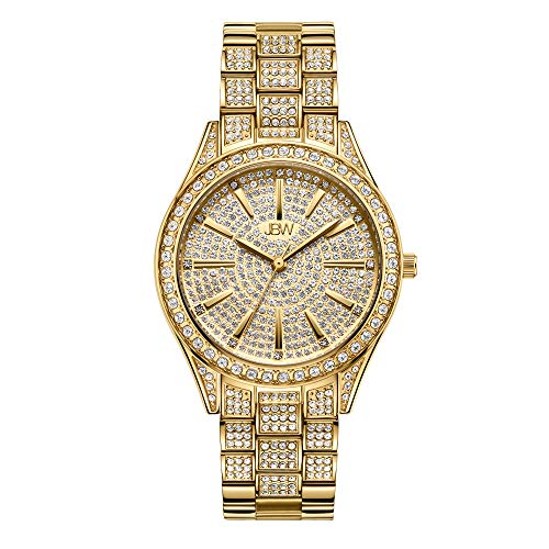 Diamond Gold Plated Wrist Watch Steel Bracelet