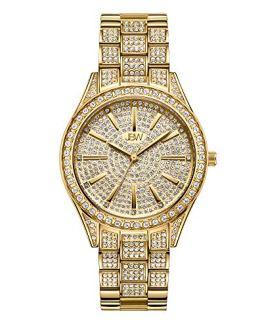 Diamond Gold Plated Wrist Watch Steel Bracelet