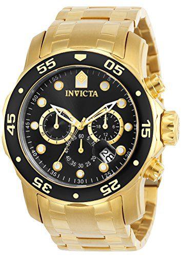 Pro Diver Scuba Invicta Gold Tone Watch