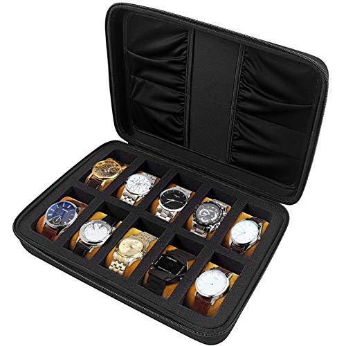10 Slots Watch Box Organizer/Men Watch Display Storage