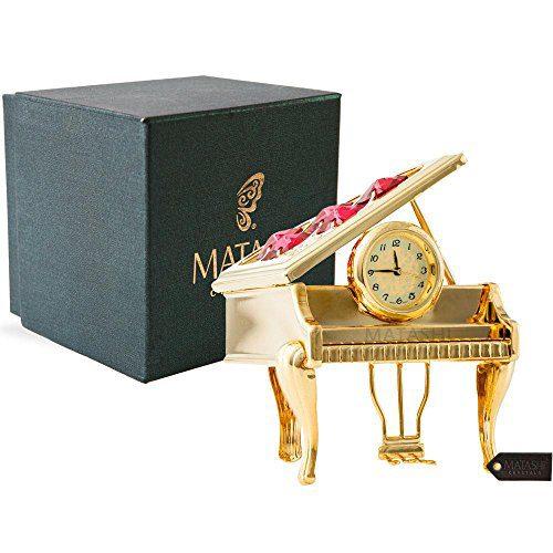 Vintage Piano Desk Clock Gift for Musician
