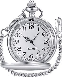 LYMFHCH Classic Smooth Vintage Quartz Pocket Watch