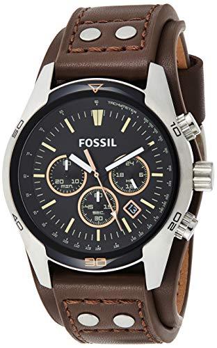 Fossil Men's Coachman Quartz Leather Chronograph Watch
