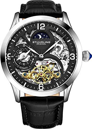 Stührling Original Automatic Watch for Men Skeleton Watch Dial