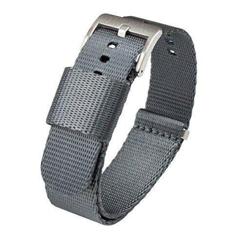 BARTON Jetson NATO Style Watch Strap 18mm Steel Grey