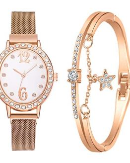 Women Watch with Stainless Steel Mesh Band Watch