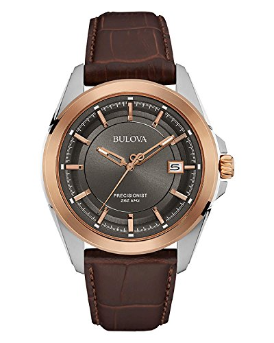 Brown Leather Band Dress Watch Bulova