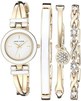 Bangle Watch and Swarovski Crystal Accented Bracelet Set