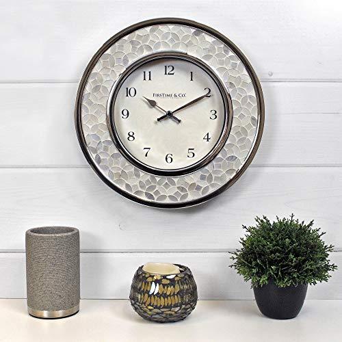 Mosaic Wall Clock Chrome