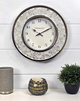 Mosaic Wall Clock Chrome