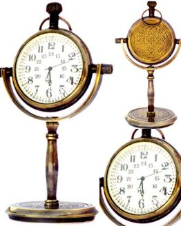 Marine Desk Shelf Clock Numeric Dial Nautical Pocket Watch