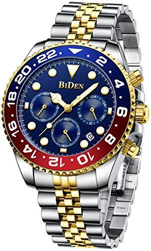 Mens Luxury Wrist Watches Luminous Chronograph Analog