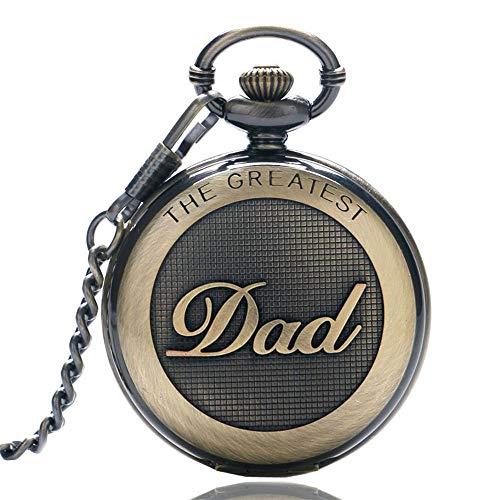 Pocket Watch with Chain Dad Quartz Man Watch GORBEN