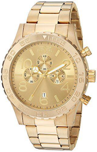 Invicta Chronograph Gold Tone Watch