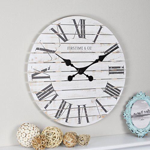 FirsTime Co. Shiplap Farmhouse Wall Clock