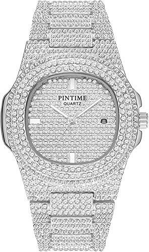 Unisex Luxury Full Diamond Watches Silver/Gold