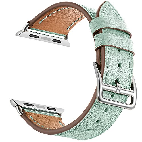 Leather Band Compatible for Apple Watch LEUNGLIK