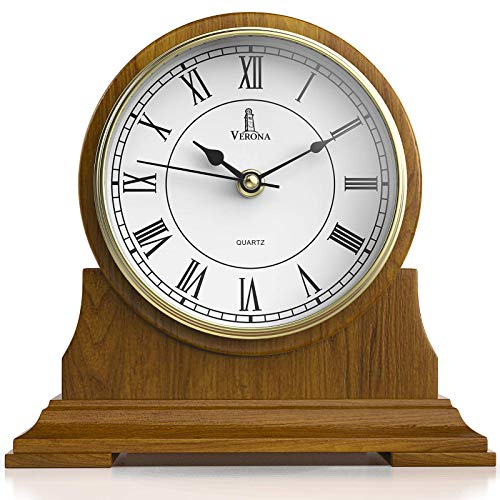 Mantel Clock Wood Mantle Clock Battery Operated