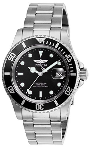 Invicta Men's Pro Diver Silver, Black Watch