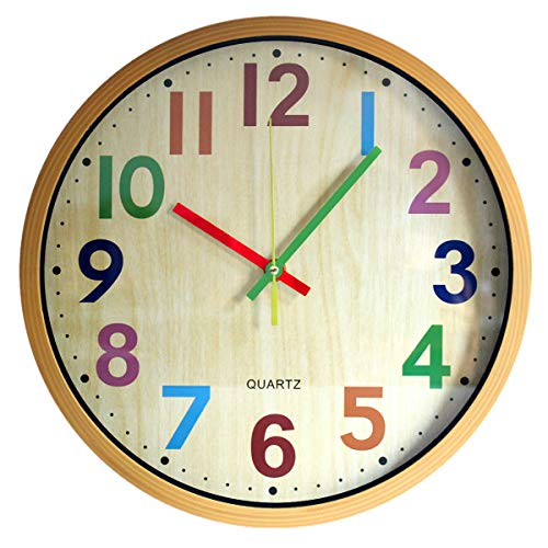 Non-Ticking Colorful Battery Operated Clock