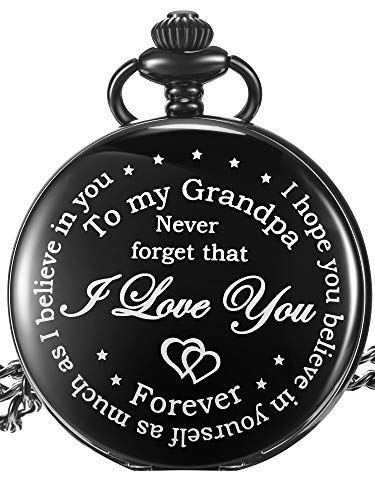 Hicarer Grandfather Pocket Watch for Father's Day Christmas Birthday