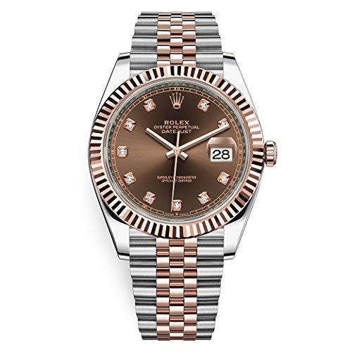 Rolex Datejust Gold Watch Jubilee Bracelet Chocolate